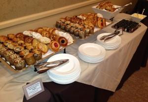 Some of the breakfast fare. Photo by Karen Salkin.