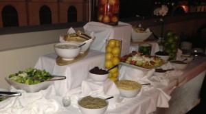 Part of the buffet. Photo by Karen Salkin.