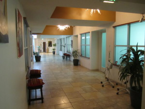 The hallway outside the treatment rooms. Photo by Karen Salkin.
