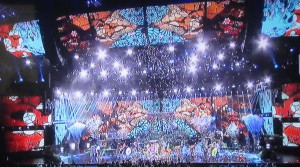 Katy Perry's colorful opening number.