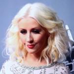 Christina Aguilera's new skinny face.