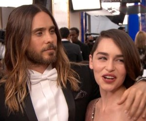 Jared Leto and Emilia Clarke hitting it off on first meeting!