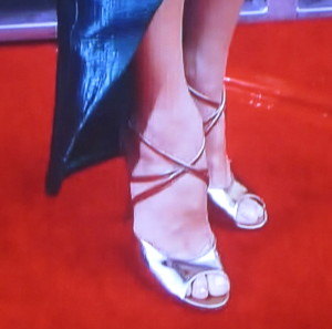 Sandra Bullock's over- hanging feet. Photo by Karen Salkin.