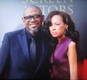 Forest Whitaker and his wife. Photo by Karen Salkin.