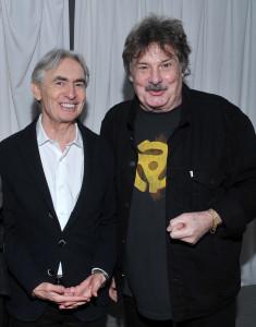 David Steinberg and  Burton Cummings, whose shirt I love!  Photo by Vince Bucci.
