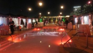 The pool area where the party was held. Photo by Flo Selfman.