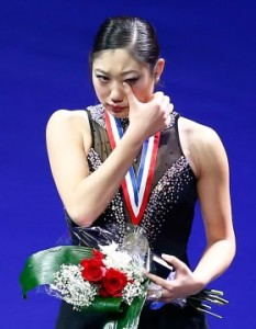 Broken-hearted Mirai Nagasu.