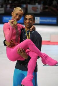Bronze medalists Aliona Savchenko and Robin Szolkowy.