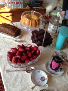 Just a few of the desserts.  Photo by Karen Salkin.