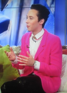 The fabulous Johnny Weir.  Photo by Karen Salkin.