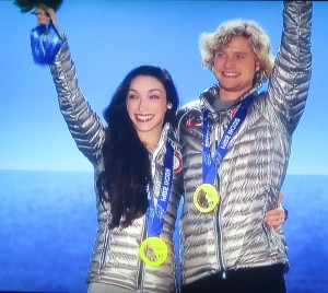 The true, deserved joy of Meryl Davis and Charlie White. Photo by Karen Salkin.