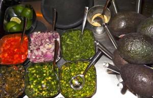 Tableside guacamole presentation.  Photo by Lauren Bennett.