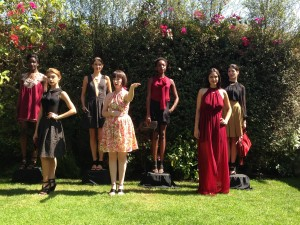 Some of the models, with designer Bri Seeley in the middle. Photo by Karen Salkin.