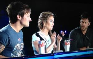 The AI judges: Keith Urban, Jennifer Lopez, Harry Connick, Jr.   Photo by Karen Salkin.