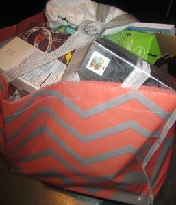 The over-stuffed VIP goodie bag. Photo by Karen Salkin.