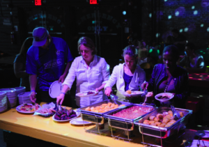 The main buffet. Photo by Bryan Bedder/Getty Images for American Express.