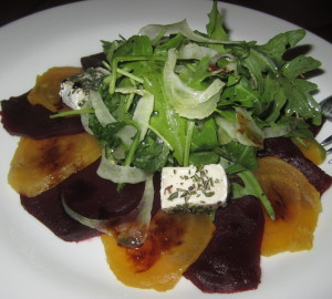 The beet salad.  Photo by Karen Salkin.