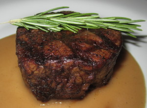 The filet mignon. Photo by Karen Salkin.