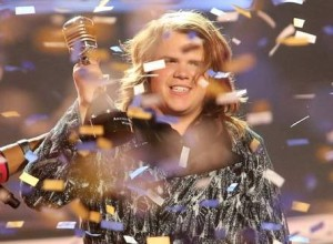 Newly-crowned American Idol, Caleb Johnson.