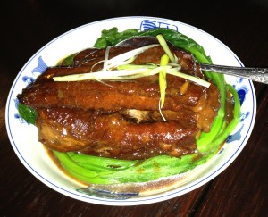 The Pork Ribs. Just look at that tender meat!  Photo by Sharon Lieberman.