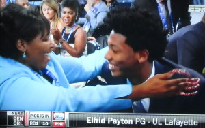 I love Elfrid Payton's beautiful face, but not his mother's nails!  Photo by Karen Salkin.