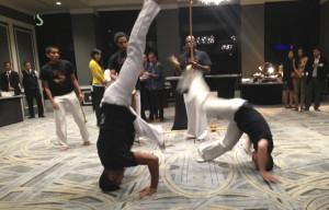The capoeira troupe, in motion, right in front of my face!  Photo by Karen Salkin.