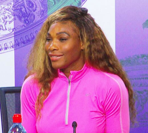 Doesn't Serena Williams look a bit strange?  And what is up with that hair?!