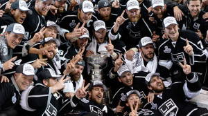 The 2014 NHL Champions, the Los Angeles Kings.