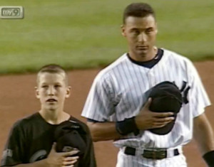 Todd Frazier when he was a World Series-winning Little Leaguer, with Derek Jeter, who looks somewhat like Laurence Olivier in Othello, don't you think?
