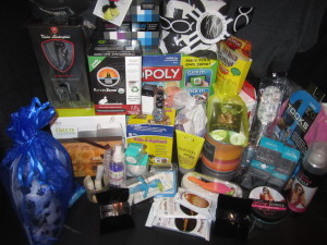 The contents of the uber-generous Secret Room VIP gift bag! Photo by Karen Salkin.