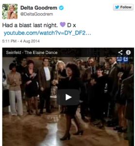 Delta Goodrem's classy, fun response.