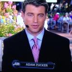 CBS anchor, Adam Zucker, is kind-of cute, right?  Photo by Karen Salkin.