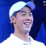 Love Kei Nishikori, but c'mon man--fix tose teeth already!   Photo by Karen Salkin.