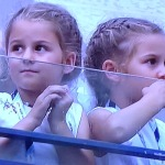 How adorable are Roger Federer's five-year-old twins???  Photo by Karen Salkin.