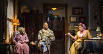 (L to R) Cicely Tyson, Blair Underwood, and Vanessa Williams.  Photo by Craig Schwartz.