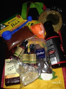 Just some of the goodie bag contents.  Photo by Karen Salkin.