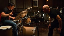 Miles Teller and JK Simmons in Whiplash.