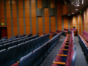 The interior of the very comfortable theatre.  Photo courtesy of Theatre Raymond Kabbaz.