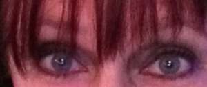 Can you see that all my eye make-up is green?  Selfie by Karen Salkin.