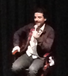 Oscar Isaac, sporting a 'stache for his next gig.  Photo by Karen Salkin.