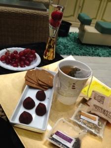 My tray of treats. Photo by Karen Salkin.
