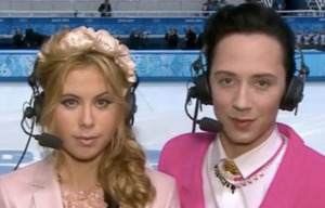 Tara Lipinski and Johnny Weir.