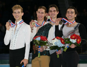 (L to R) Adam Rippon, Jason Brown, Joshua Farris, Max Aaron.