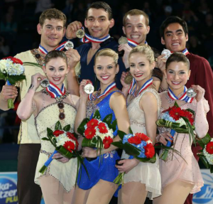 (L to R) Alexa Scimeca and Christopher Knierim, Haven Denney and Brandon Frazier, Tarah Kayne and Danny O'Shea, Madeline Aaron and Max Settlage.