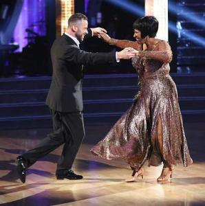 Patti LaBelle and Artem Chigvintsev.  What a happy pair!