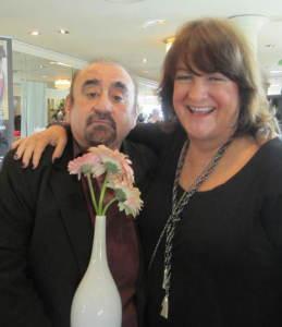 Comic actor Ken Davitian and Suite Host Debbie Durkin. Photo by Alice Farinas.