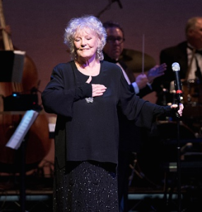 Petula Clark, being as touched by the reception she received as the audience was to see her! Photo by Earl Gibson for The ALS Association Golden West Chapter.