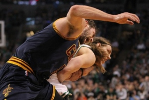 Kevin Love, screaming out in pain.
