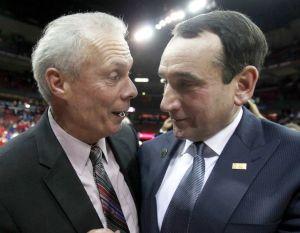 Wisconsin coach Bo Ryan and Duke coach Mike Krzyzewski before the big game.