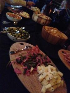 The cheese and charcuterie buffet. Photo by Karen Salkin.